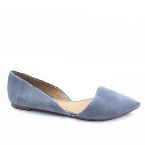 JCREW Size 8.5 Blue Zoe Suede d'Orsay Flats